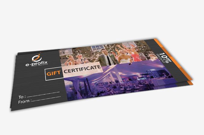 Gift Certificate Design Portfolio 4 - DreamLogoDesign