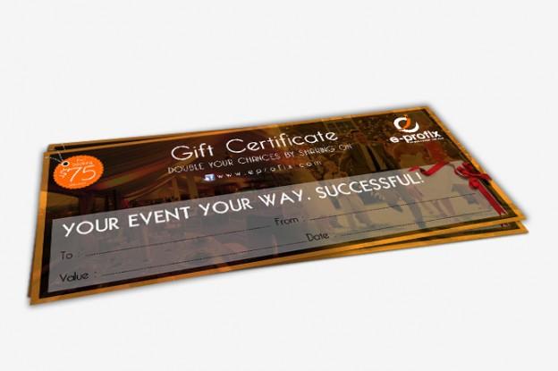 Gift Certificate Design Portfolio 5 - DreamLogoDesign