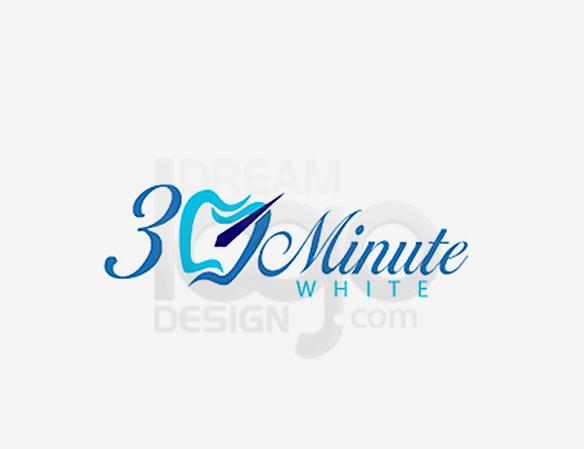 30 Minute White Healthcare Logo Design - DreamLogoDesign