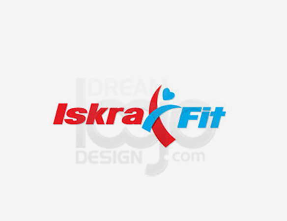 Iskra Fit Healthcare Logo Design - DreamLogoDesign
