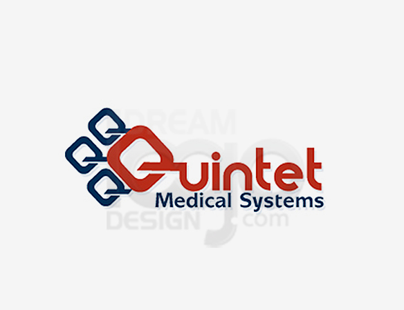 Quintet Medical Systems Healthcare Logo Design - DreamLogoDesign