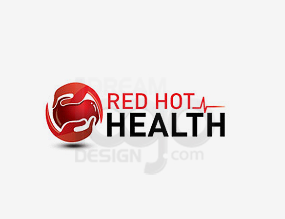 Red Hot Health Logo Design - DreamLogoDesign
