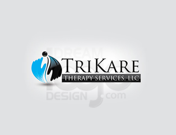Trikare Therapy Services LLC Healthcare Logo Design - DreamLogoDesign