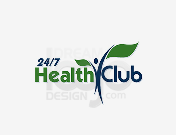 24/7 Health Club Logo Design - DreamLogoDesign