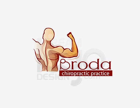 Broda Chiropractic Practice Healthcare Logo Design - DreamLogoDesign