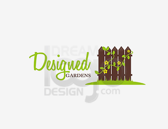 Designed Gardens Landscaping Logo Design - DreamLogoDesign