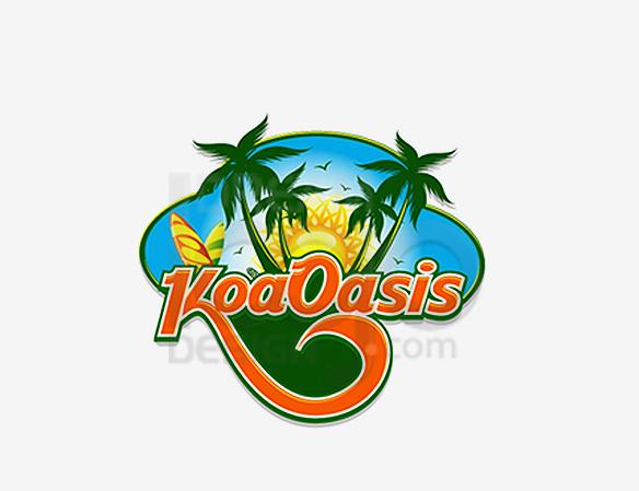 Koa Oasis Landscaping Logo Design - DreamLogoDesign