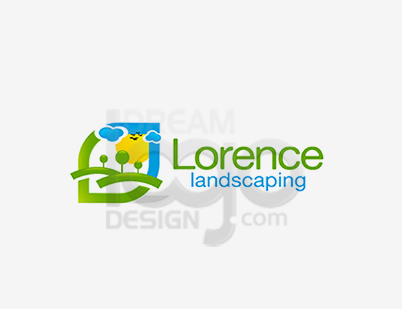 Lorence Landscaping Logo Design - DreamLogoDesign