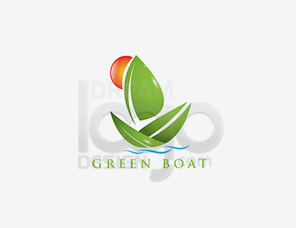 Green Boat Landscaping Logo Design - DreamLogoDesign