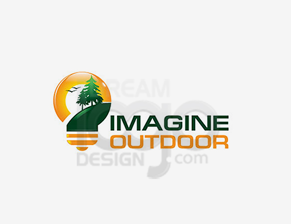 Imagine Outdoor Landscaping Logo Design - DreamLogoDesign