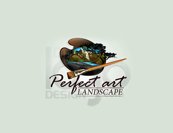 Perfect Art Landscape Logo Design - DreamLogoDesign