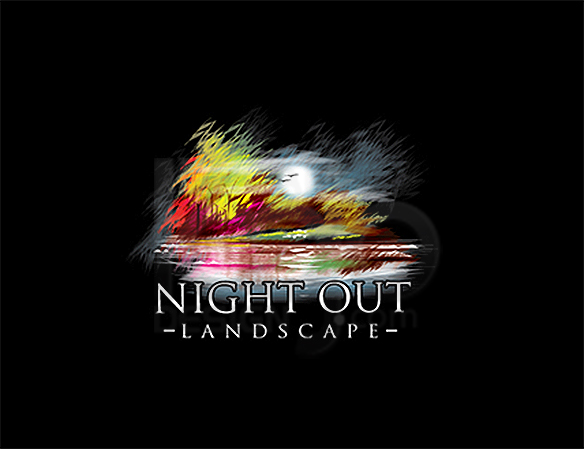 Night Out Landscape Logo Design - DreamLogoDesign