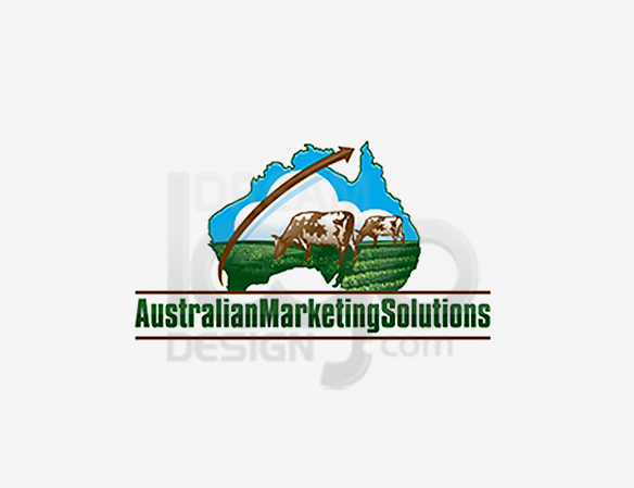 Australian Marketing Solutions Landscaping Logo Design - DreamLogoDesign