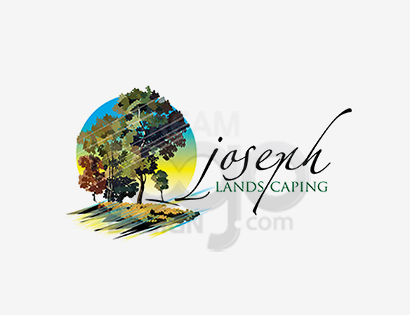 Joseph Landscaping Logo Design - DreamLogoDesign