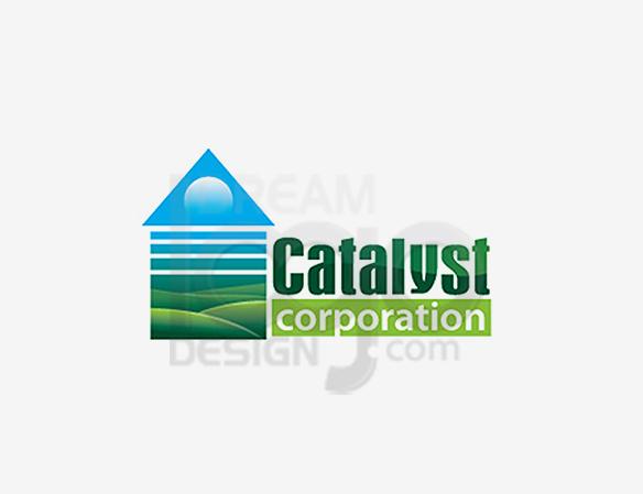 Catalyst Corporation Landscaping Logo Design - DreamLogoDesign