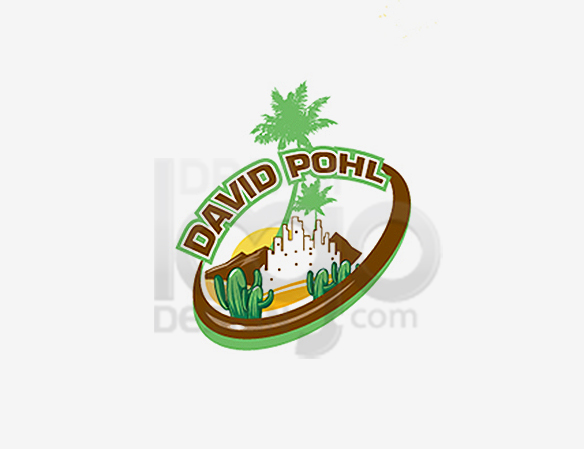 David Pohl Landscaping Logo Design - DreamLogoDesign