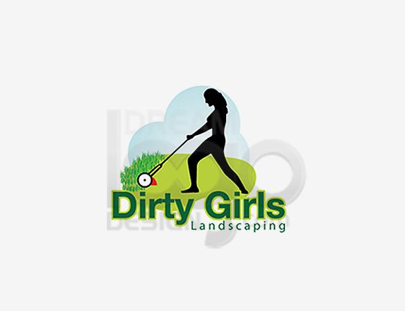 Dirty Girls Landscaping Logo Design - DreamLogoDesign