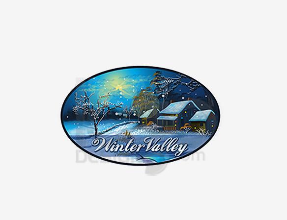 Winter Valley Logo Design - DreamLogoDesign