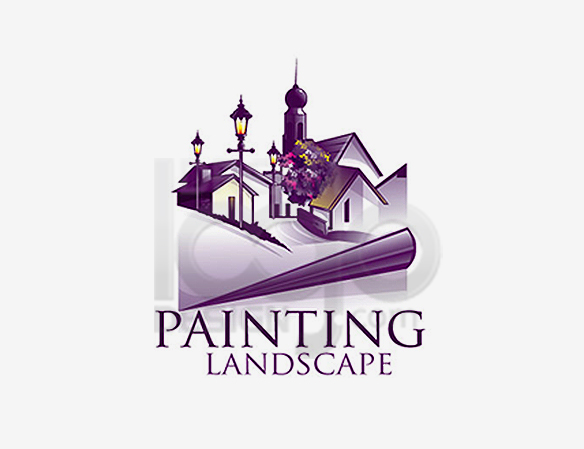 Painting Landscape Logo Design - DreamLogoDesign