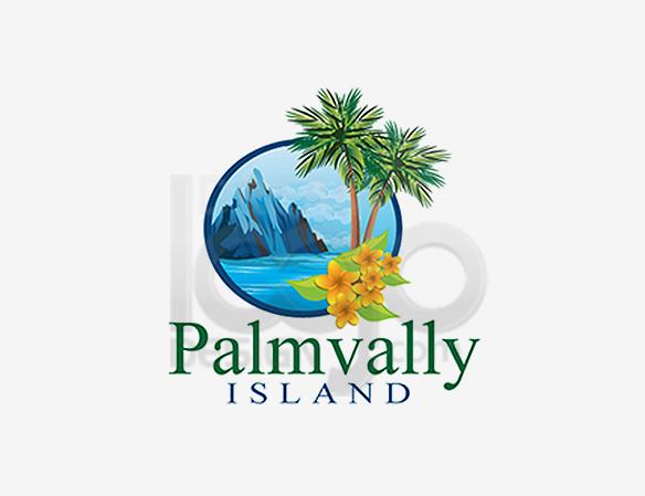 Palm Vally Island Landscaping Logo Design - DreamLogoDesign