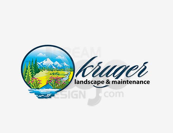 Kruger Landscape & Maintenance Logo Design - DreamLogoDesign
