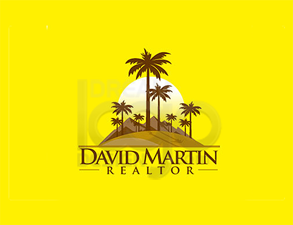 David Martin Realtor Landscaping Logo Design - DreamLogoDesign