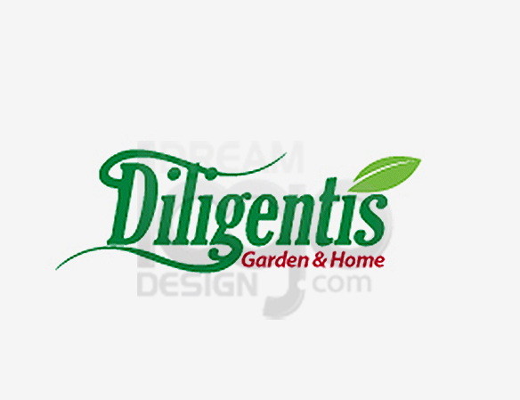 Diligentis Garden & Home Landscaping Logo Design - DreamLogoDesign
