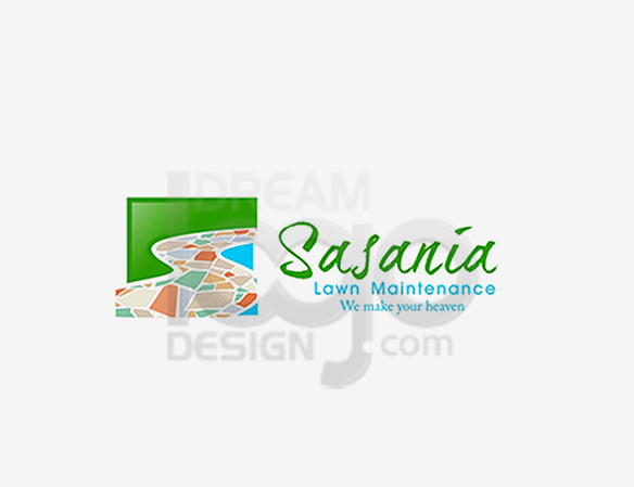 Sasania Lawn Maintenance Landscaping Logo Design - DreamLogoDesign