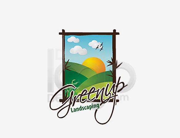 Green Up Landscaping Logo Design - DreamLogoDesign