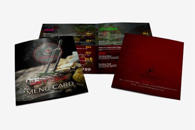 Menu Card Design Portfolio 2 - DreamLogoDesign