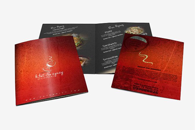 Menu Card Design Portfolio 3 - DreamLogoDesign