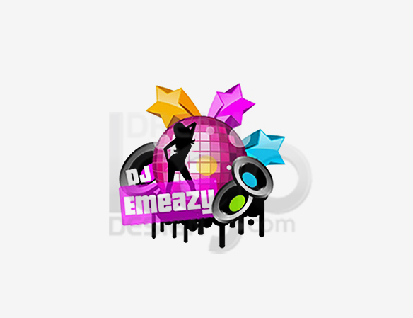 DJ Emeazy Music Logo Design - DreamLogoDesign