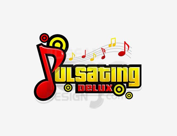 Pulsating Deluxe Music Logo Design - DreamLogoDesign