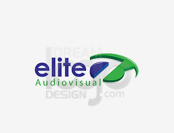 Elite Audio Visual Music Logo Design - DreamLogoDesign