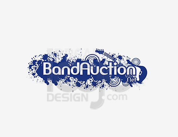 Band Auction Music Logo Design - DreamLogoDesign