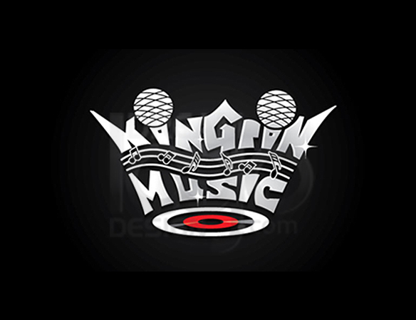 King in Music Logo Design - DreamLogoDesign