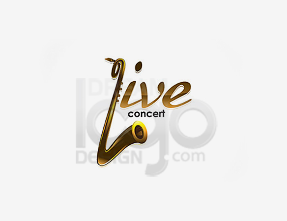 Live Concert Music Logo Design - DreamLogoDesign