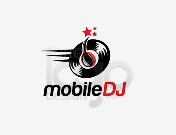 Mobile DJ Music Logo Design - DreamLogoDesign
