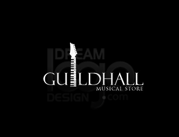 Guildhall Musical Store Music Logo Design - DreamLogoDesign