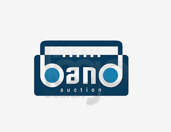 Band Auction 3D Music Logo Design - DreamLogoDesign