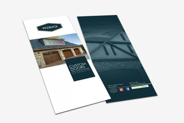 Custom Rack Card Design Portfolio 2 - DreamLogoDesign