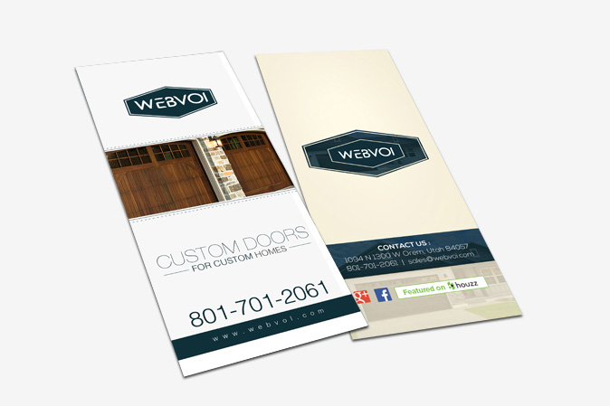 Custom Rack Card Design Portfolio 3 - DreamLogoDesign