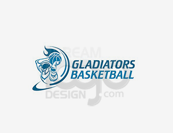 Gladiators Basketball Sports Logo Design - DreamLogoDesign