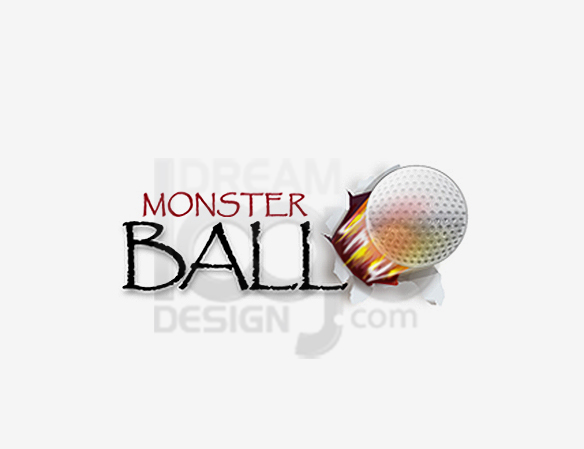 Monster Ball Sports Logo Design - DreamLogoDesign