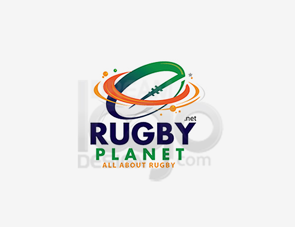 Rugby Planet Sports Logo Design - DreamLogoDesign