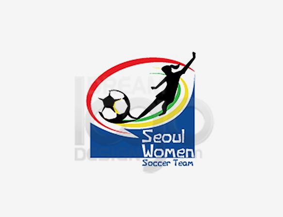 Seoul Women Soccer Team Sports Logo Design - DreamLogoDesign