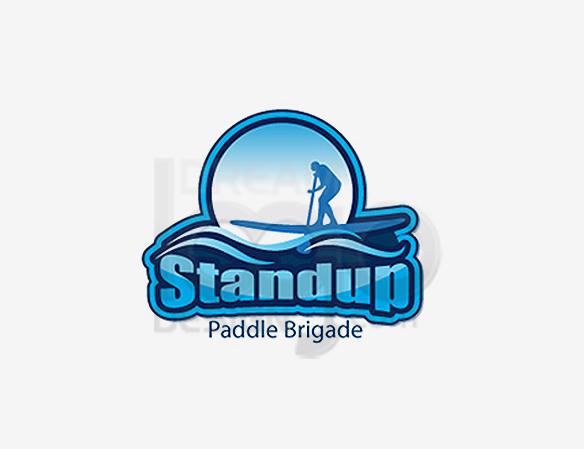 Standup Paddle Brigade Sports Logo Design - DreamLogoDesign