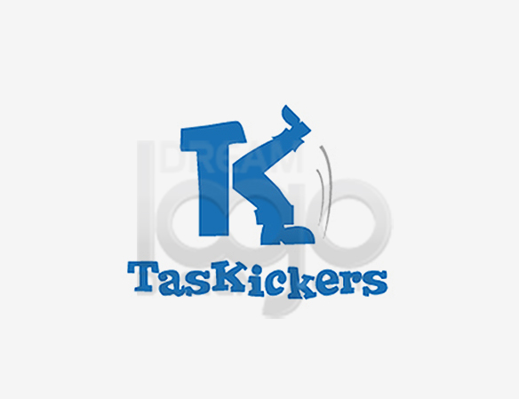 Task Kickers Sports Logo Design - DreamLogoDesign