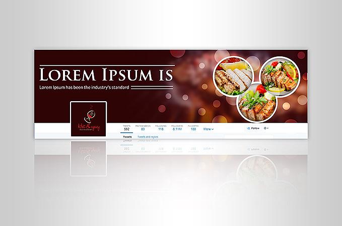 Custom Twitter Banner Design Portfolio 1 - DreamLogoDesign