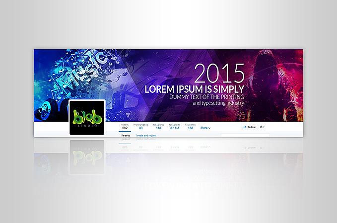 Custom Twitter Banner Design Portfolio 4 - DreamLogoDesign
